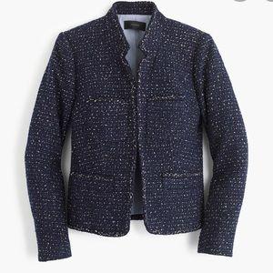 J. Crew Metallic Tweed Jacket Blazer With Pockets